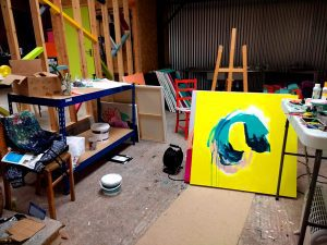 Emma Housley studio space at Clayhill Arts