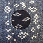 Romor Designs Boro mend - Kasuri Hitomazashi sashiko pattern